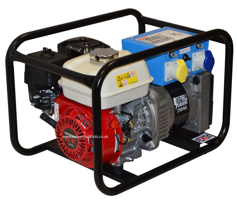 Stephill Generators 2700HMS 2.7kVA Standard Tank Generator Hire Max
