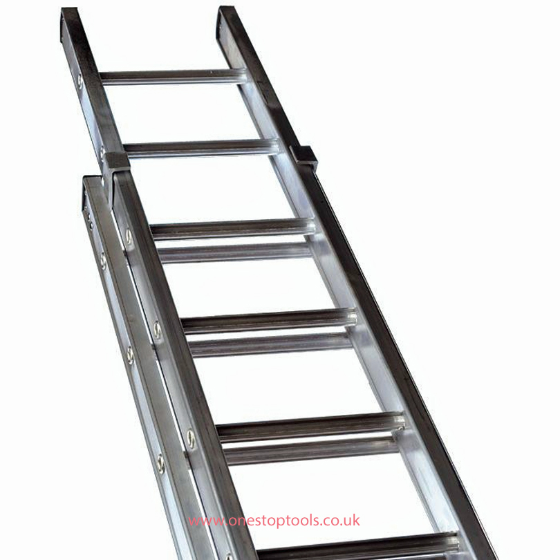 Lyte Ladders NELT245  4.45m/7.81m Aluminium 2-Section Trade Ladder