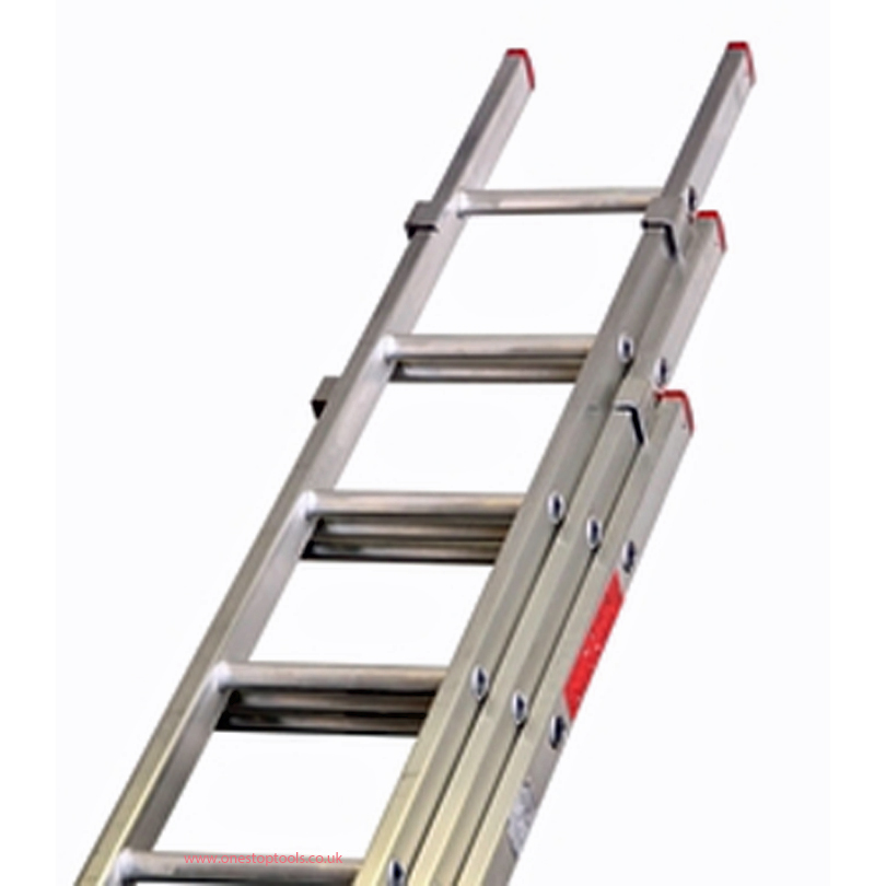 Lyte Ladders BD335 3.3m Aluminium 3-Section Domestic Ladder