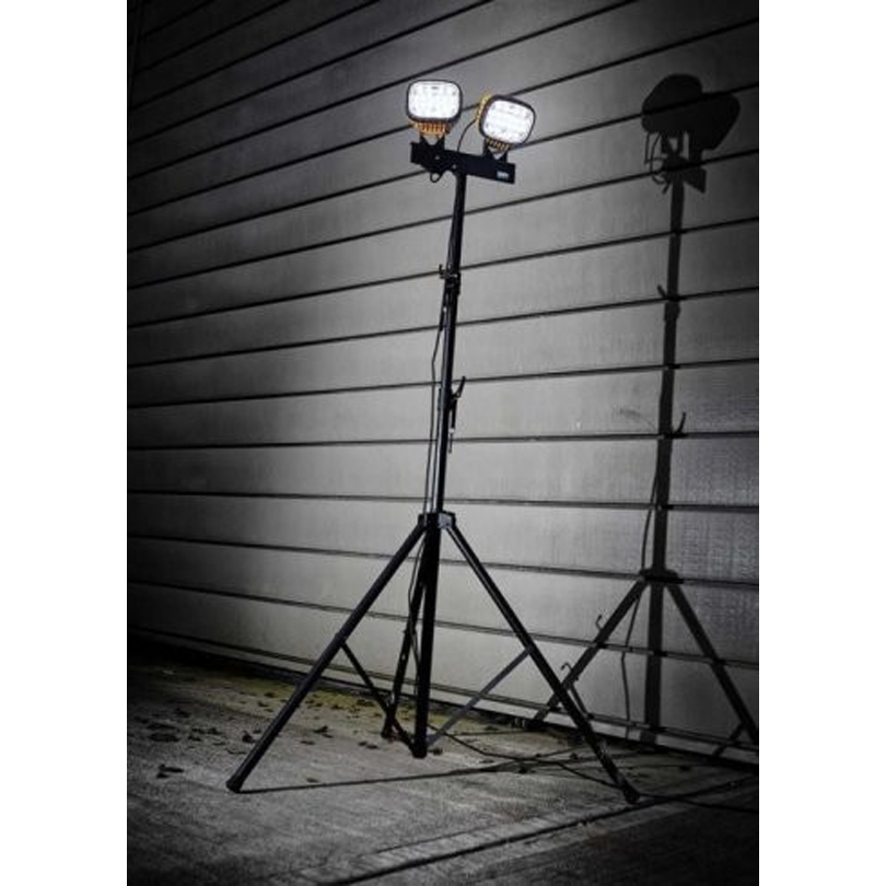 Defender Two LED 3000 Flood Lights 110v With Aluminum Mast
