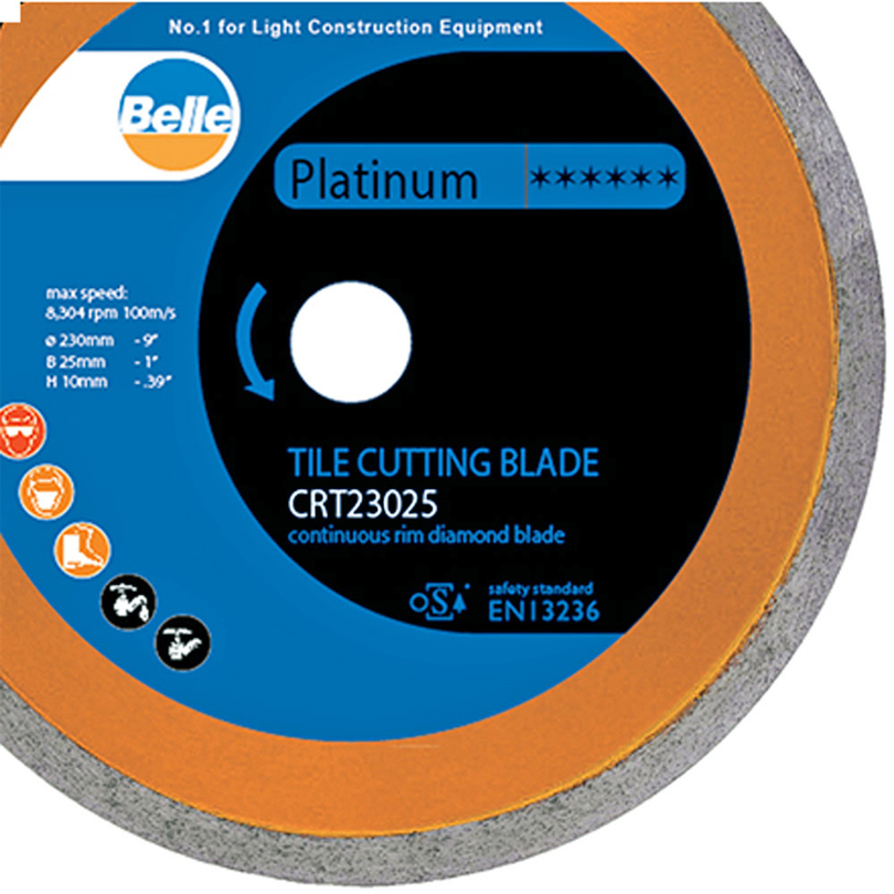 Belle Continuous Rim Tile CRT 200 x 25 Cutting Blade