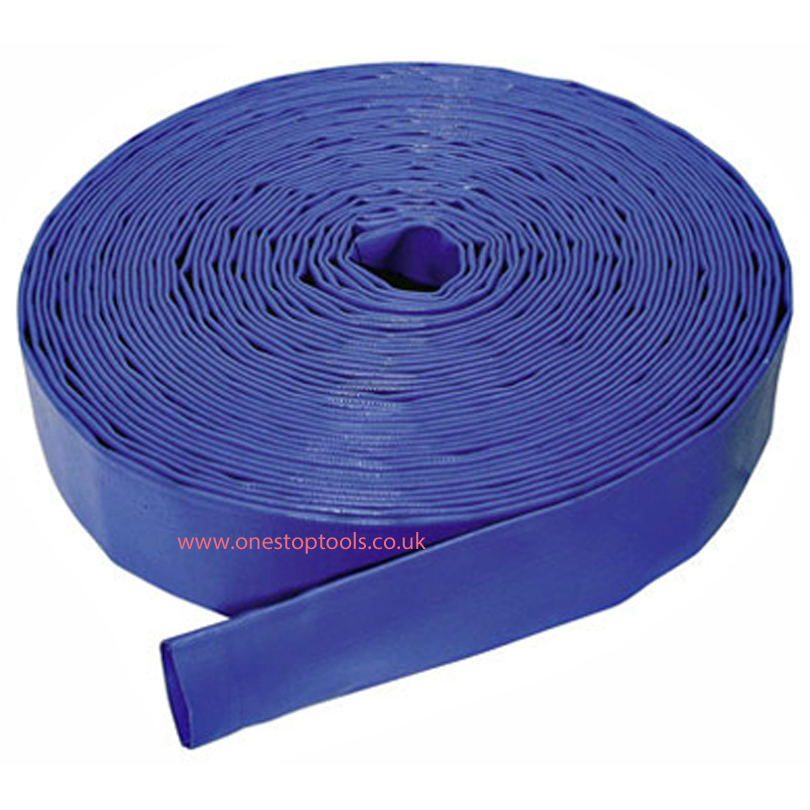 15m x 75mm  Blue Layflat Hose