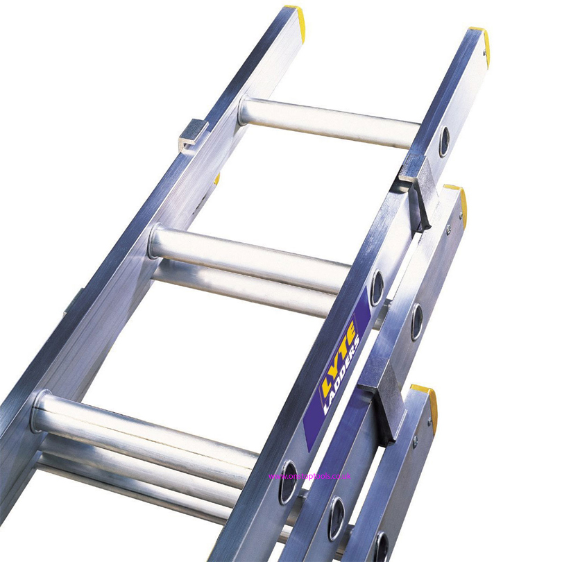 Lyte Ladders  NELT325 2.45m/5.23m Aluminium 3-Section Trade Ladder