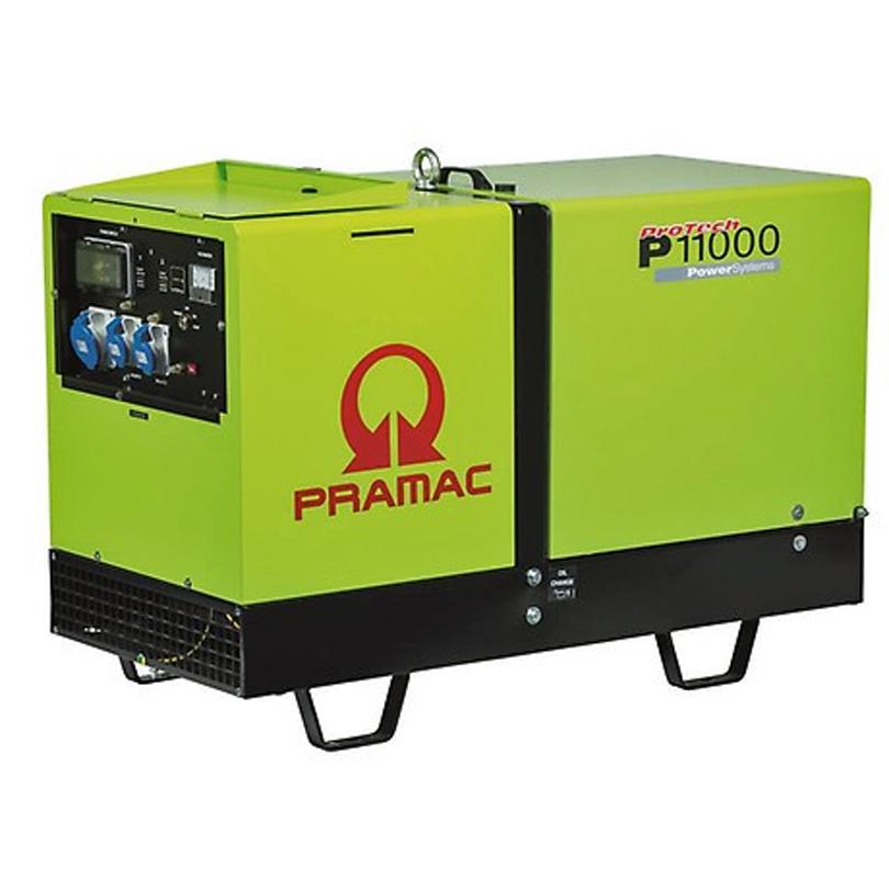 Pramac Protech P11000 10.6kVA Super Silent Generator c/w AMF