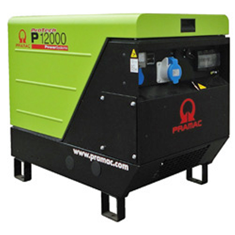 P12000 11.93kVA  Silenced Petrol Generator  63amp 230v + CONN + AVR
