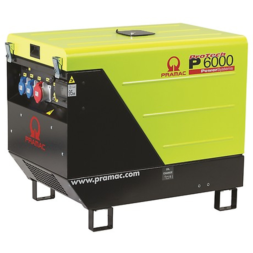 Pramac P6000S  6.92kVA 3 Phase Super Silent 415v Diesel + CONN + AVR  Generator