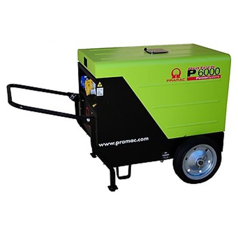 Pramac P6000 5.9kVA Standard Silenced  Diesel Generator c/w Trolley