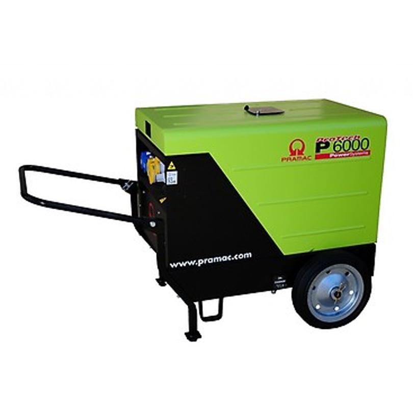 Pramac Protech P6000S 5.9kVA  Super Silenced  Diesel Generator c\w a Trolley