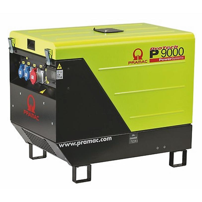 Pramac P9000 8.28kVA Standard Silent 230v  Diesel Generator + CONN + AVR