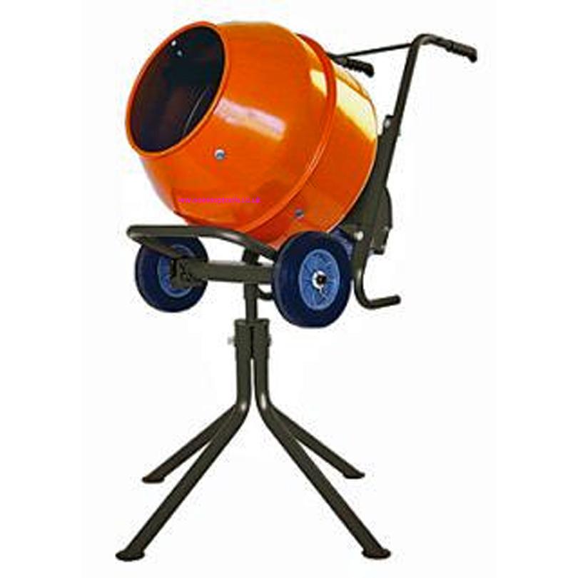 Powermec Petrol Barrow Mixer c/w Stand