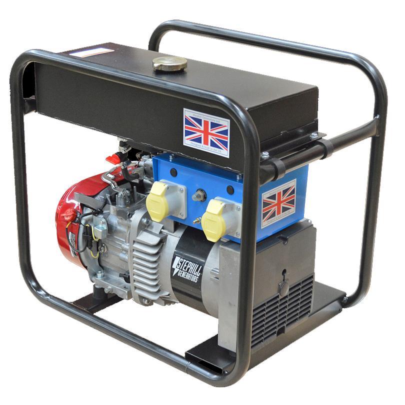 Stephill Generators RT5000HMC 5kVA Rail Track Petrol Generator
