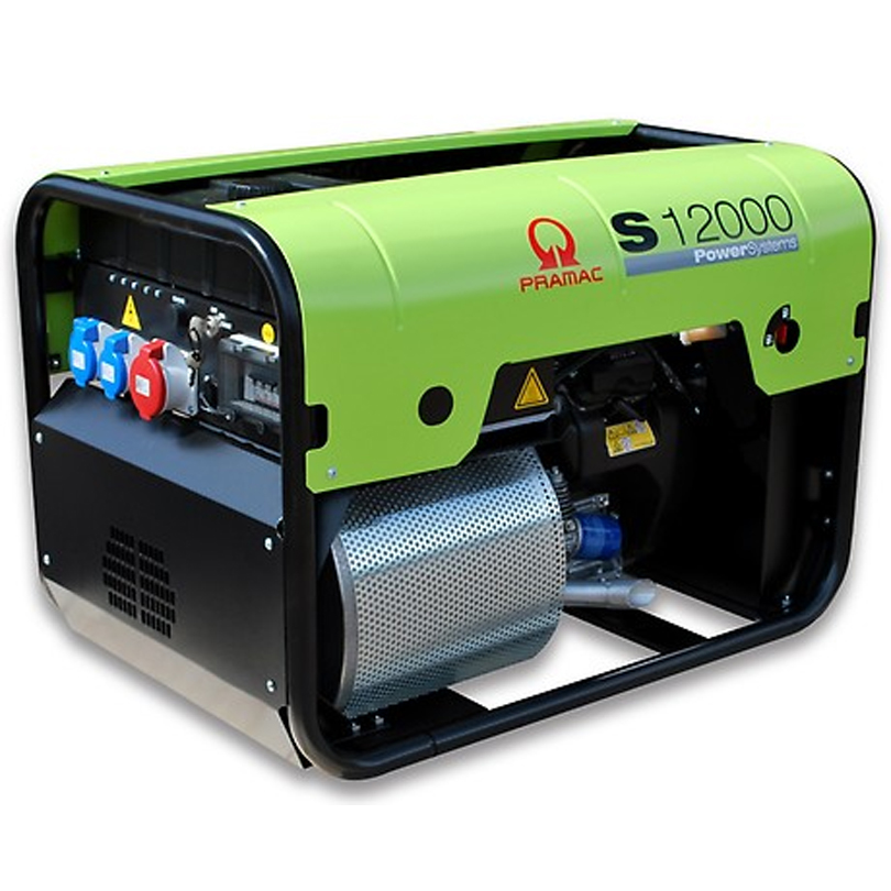 Pramac S12000 12kVA Generator 230v + CONN + AVR