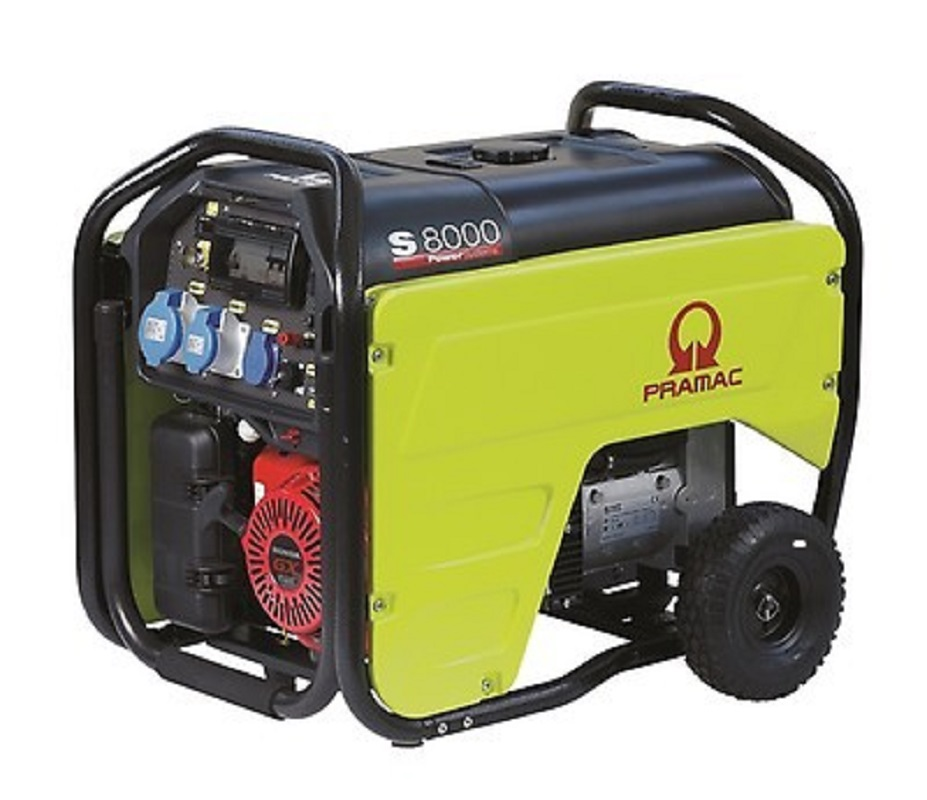 Pramac S8000 7.0 kva Long Run Fuel Tank Generator with Electric Start