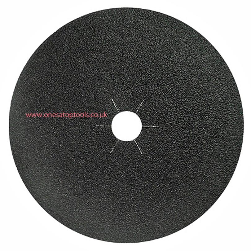 Pack (50) P120 180 mm x 22.2mm Fibre Back Floor Sanding Discs