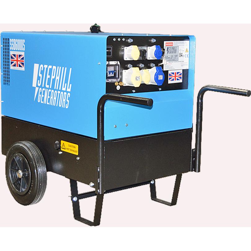 Stephill SSD6000S 6kVA Super Silence Diesel Generator