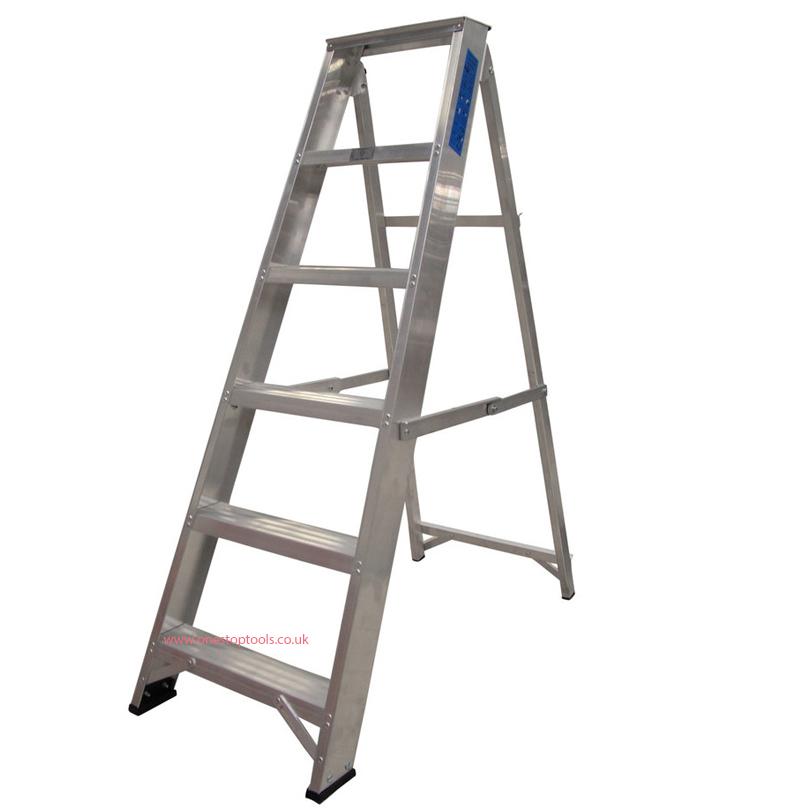 Lyte Ladders 10 Tread Industrial Swingback Stepladder