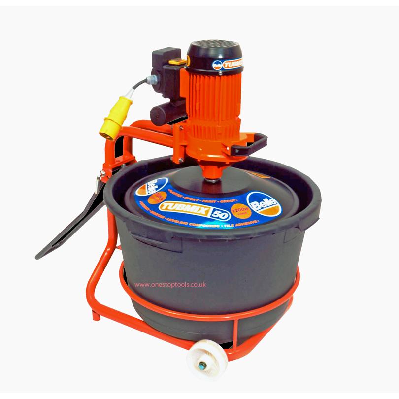 Tubmix 50 Paddle Plasterer Mixer 110v